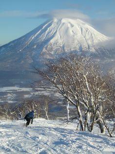 Skiing at Niseko Grand Hirafu, Hokkaido, Japan
