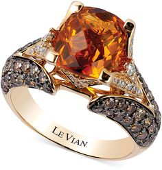 Le Vian Citrine (2-3/8 ct. t.w.) and #Diamond (1-1/5 ct. t.w.) Ring in 14k Gold