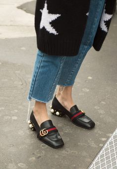 The Best, Worst, Craziest Street-Style Shoes From Fashion Month: Best Gucci Appearance