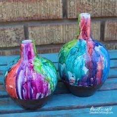 Resultado de imagem para alcohol ink vases