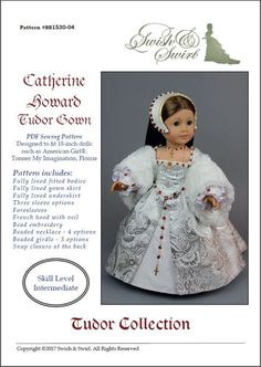 PDF Pattern SS1530-04. Catherine Howard Tudor Gown for
