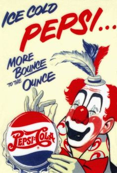 This is an example of a vintage poster for Pepsi as it uses their old logo and paint instead of digital typography. Clock Vintage, Vintage Signs, Vintage Ads, Vintage Posters, Old Advertisements, Retro Advertising, Retro Ads, Vintage Coca Cola, Pepsi Ad
