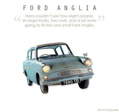 Ford Anglia Admit it, you've wanted one ever since :)