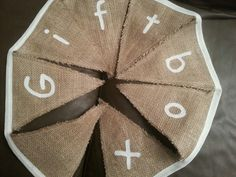 Burlap message bunting is perfect for weddings. Bella and the Moo.