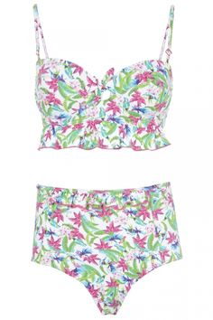 745fd67e310c7 Primark Tropical Parrot Longline Bandeau Top, £6 And Highwaisted Pants, £5