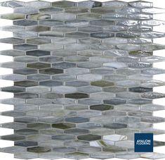 Agate Mizumi Matrini Mosaic Glass Tile   Handmade Tile with 18 Color Hues   #glasstile #tile #bathroomdesign