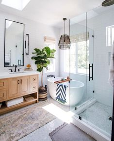 home loft Bathroom Inspiration // Loft Interior Boho Bathroom, Bathroom Interior, Master Bathroom, Bathroom Ideas, Bathroom Vintage, Eclectic Bathroom, Modern Bathrooms, Bathroom Mirrors, Bedroom Modern