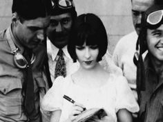 Louise Brooks on set in Now We're In The Air