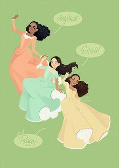 Angelica, Eliza, and Peggy! The Schuyler Sisters! Hamilton Musical, Hamilton Broadway, Aaron Burr, Dear Evan Hansen, Hamilton Drawings, Room Photo, Hamilton Wallpaper, Hamilton Lin Manuel Miranda, Hamilton Angelica