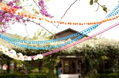 Love this idea! Maybe I'll pair it with white bunting flags..bring some colour into it. Perfect for a bi-cultural wedding! 10 Unique Bunting Ideas | Bridal Musings Wedding Blog 2
