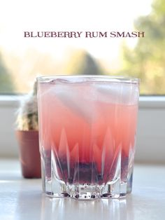 Prosecco in the Park: blueberry rum smash - blueberries, brown sugar ...