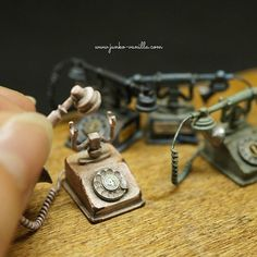 Miniature retro rotary phones