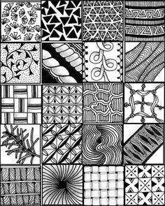 zentangle henna muster einfach patterns