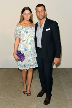 Olivia Palermo and Alexandre Birman.