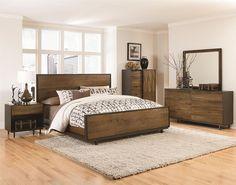 camera da letto rustica in legno