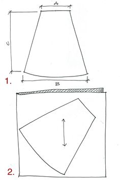 I used these guidelines to measure out the fabric and didn't need a pattern. I will be making more for the rest of us girls!