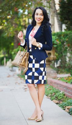 Love the outfit for work except the peep toe pumps...no teacher on her foot all day is wearing those.