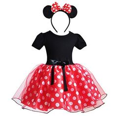 Baby Girls Polka Dots Leotard Dresses Fancy Dance Costume Cosplay Tutu Dress up with Ears Headband Girl Costumes, Dance Costumes, Tutu Ballet, Minnie Dress, Dress Outfits, Dress Up, Cute Headbands, Costume Shop, Kids Shorts