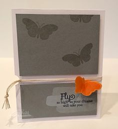 Blissful Butterflies and coordinating Die-namics make a sweet graduation card. By Amy Rohl