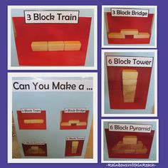 Visual Learning in the Block Center, Photographs of beginning block structures via RainbowsWithinReach