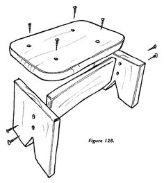 child's woodworking stool | Although kids like the camping stool projects, some want a more stable ...