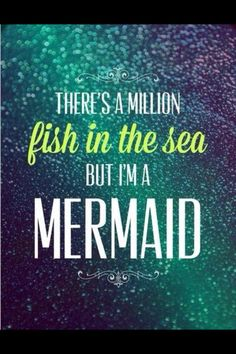 There's a million fish in the sea but...