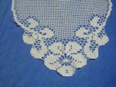 Toalhinha de crochê com gráfico – Certas tarefas artesanais, ocultas pela exploração do exercício ma
