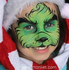 """"" New Painting Christmas Grinch Ideas """" Nueva pintura Christmas Grinch Ideas """" Face Painting For Boys, Face Painting Designs, Body Painting, Disney Face Painting, Maquillage Halloween, Halloween Makeup, Tinta Facial, Le Grinch, Grinch Costumes"