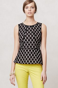 Piped Peplum Blouse #anthropologie