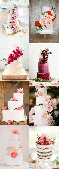 fabulous wedding cakes with floral decorated on for wedding ideas 2015 2016 | www.mysweetengagement.com