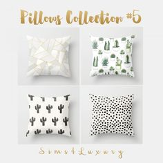 Sims4Luxury: Pillows Collection 5 • Sims 4 Downloads
