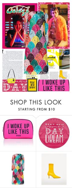 """""""Pop of Colour"""" by peeweevaaz ❤ liked on Polyvore featuring Victoria's Secret PINK, Simple by Design, Dolce&Gabbana, Americanflat, outfit, dress, polyvoreeditorial and polyvorefashion"""