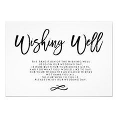 Chic Hand Lettered Wedding Wishing Well