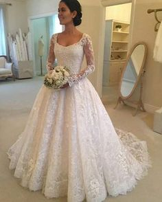 Cheap vestido de noiva, Buy Quality de noiva directly from China sleeved wedding Suppliers: Hot Robe de mariage Elegant White Lace A-Line Wedding Dresses 2017 Sheer Long Sleeve Wedding Gown Bride Dress Vestido de noiva Muslim Wedding Dresses, Affordable Wedding Dresses, Elegant Wedding Dress, Perfect Wedding Dress, Bridesmaid Dresses, Formal Dresses, Prom Dresses, Evening Dresses, Wedding White