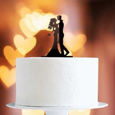 This cake topper is ideal finishing touch to your cake. With a tapered pointy end, they can be plunged into any cake. Wedding Kiss, Wedding Couples, Birthday Decorations, Wedding Decorations, Naked Cakes, Cake Toppers, Wedding Cakes, Table Lamp, Baking
