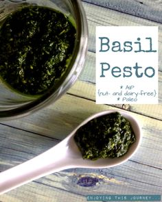 AIP Basil Pesto {with notes on nutritional yeast} | Enjoying this Journey...