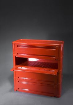 Olaf von Bohr; Plastic Chest of Drawers for Kartell,  1969.
