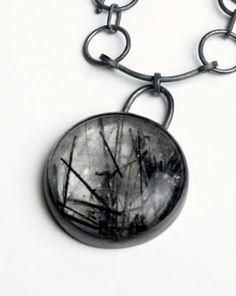 Spelbound Woods, rutilated quartz, 925 Ag