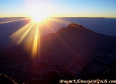 Dawn on Kibo Peak, Mount Kilimanjaro, Tanzania. (www.mountkilimanjaroguide.com)