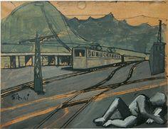 Mario Sironi, Composizione con treno e figura, c. 1930