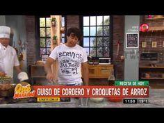 Receta de hoy: guiso de cordero y croquetas de arroz Ariel Rodriguez Palacios, Polenta, 3 D, Videos, Youtube, One Pot Dinners, Onion, Rice, Meals