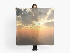 """""""Cloudy Sunrise Over Water"""" scarf example from FutureImaging"""