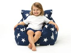 Our Baby I'm A Star Kids Bean Bag Chairs are the cutest addition to any child's bedroom or nursery. Complete with a separate inner liner for ease of cleaning and perfect for kids aged two to five Cute Kids, Cute Babies, Wooden Beach Chairs, Cuddles And Snuggles, Armchair With Ottoman, Kids Bean Bags, Foundation Colors, Navy Blue Background, Childproofing