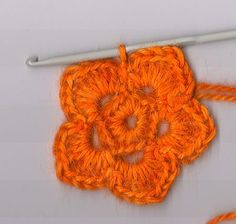 Crochet flower tutorial - dá um brinquinho pendente lindo lindo <3