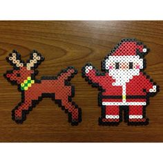 Christmas perler beads by hamuuuuuulove