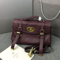 2016 Latest Mulberry Alexa Bag in Oxblood Soft Leather