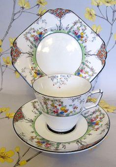 Vintage Ye Olde English Grosvenor china Jackson & Gosling tea cup trio. c.1920   eBay