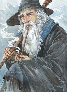 Gandalf by Jenny Dolfen #hobbit #lordoftherings #fanart