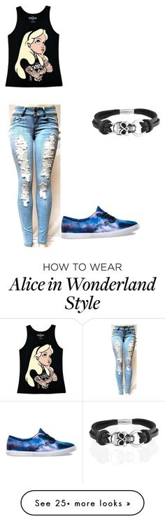 """""""Untitled #82"""" by emmi-coconuthead on Polyvore featuring Disney, Vans and Bling Jewelry"""