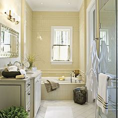Luxurious Master Bathrooms | Creamy Tiled Master Bath | SouthernLiving.com